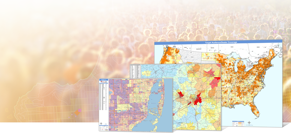Get demographic maps of any area from US down to ZIP Code.