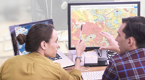 Digital Maps on laptops, PCs, tablets or smart phones.