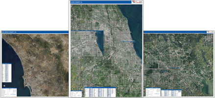 Shop for county satellite maps.