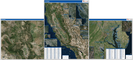 Shop for state satellite maps.