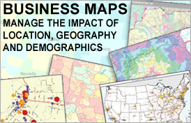 Business Maps - Manage the impact of location, geography and demographics.