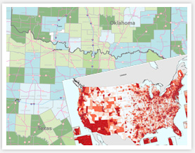 Income Map by county